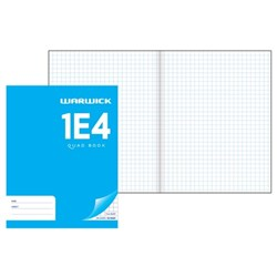 Warwick 1E4 Exercise Book 7mm Quad Maths 28 Leaves
