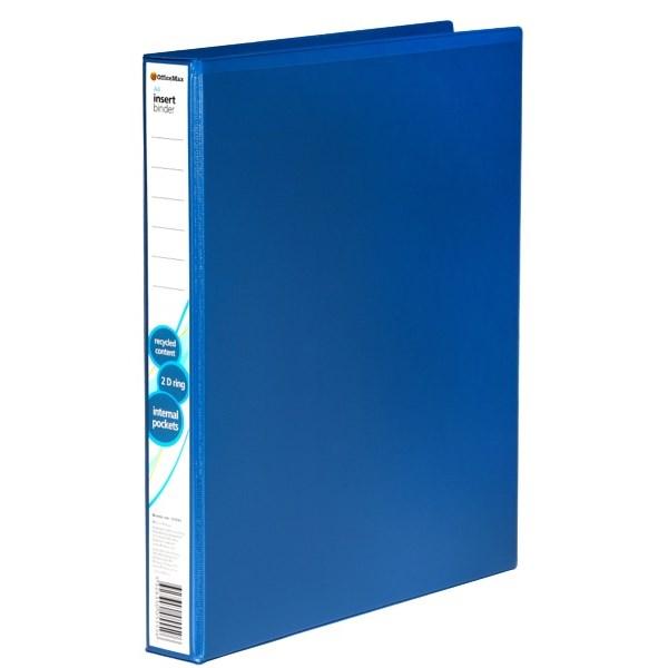 OfficeMax Overlay Ringbinder Polypropylene 2D A4 25mm Blue